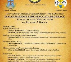 Inaugurata nuova sede a Gerace R. Calabria